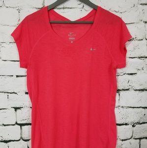 Nike Dri Fit Pink Sheer T- Shirt